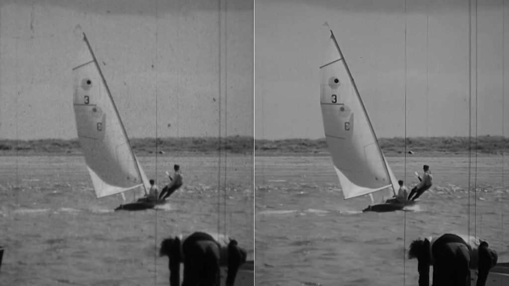 16mm Cline Film cleaning before and after Example 2